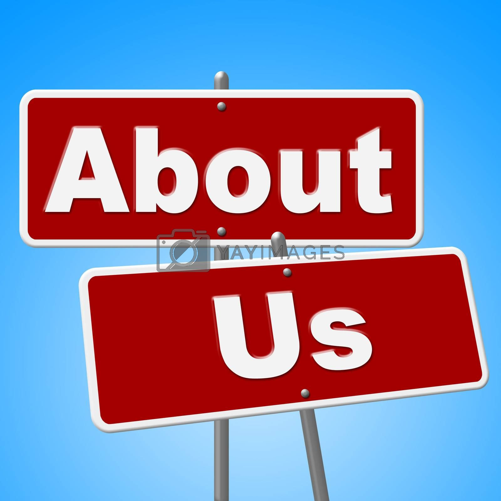 About Us Signs Represents Corporate Contact And Website by stuartmiles