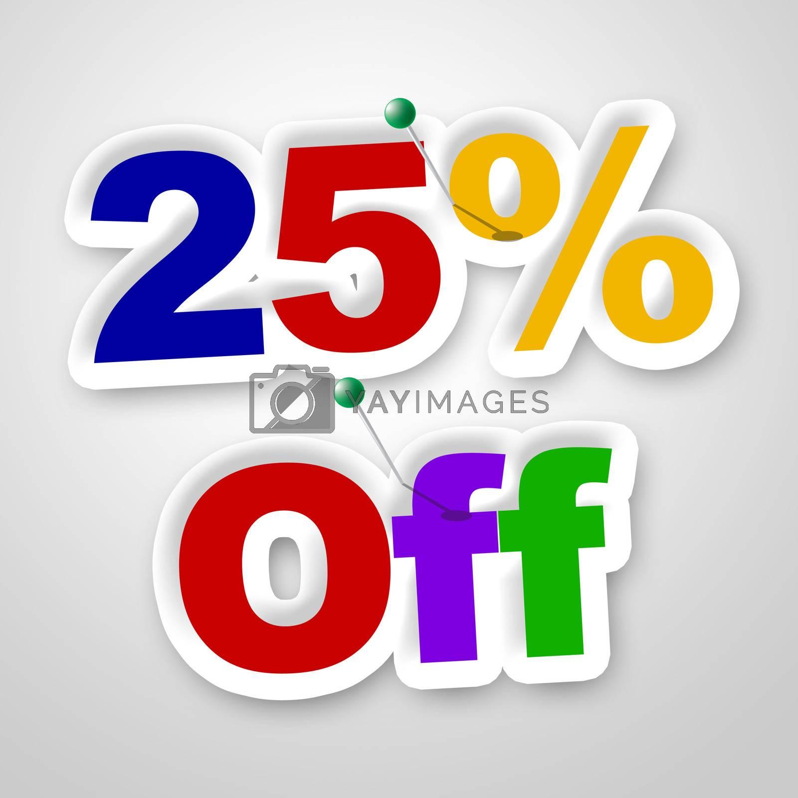 Twenty Five Percent Represents Sale Promotion And Promotional by stuartmiles