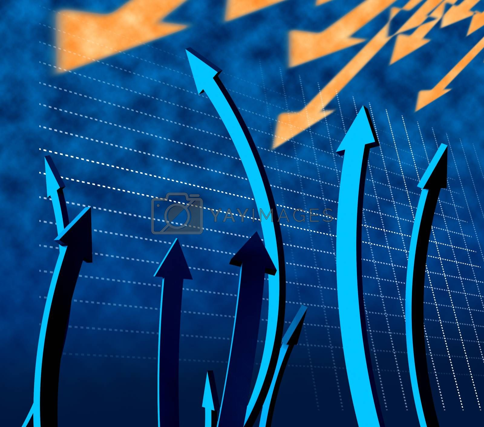 Arrows Going Up Shows Increase Rising And Advance by stuartmiles