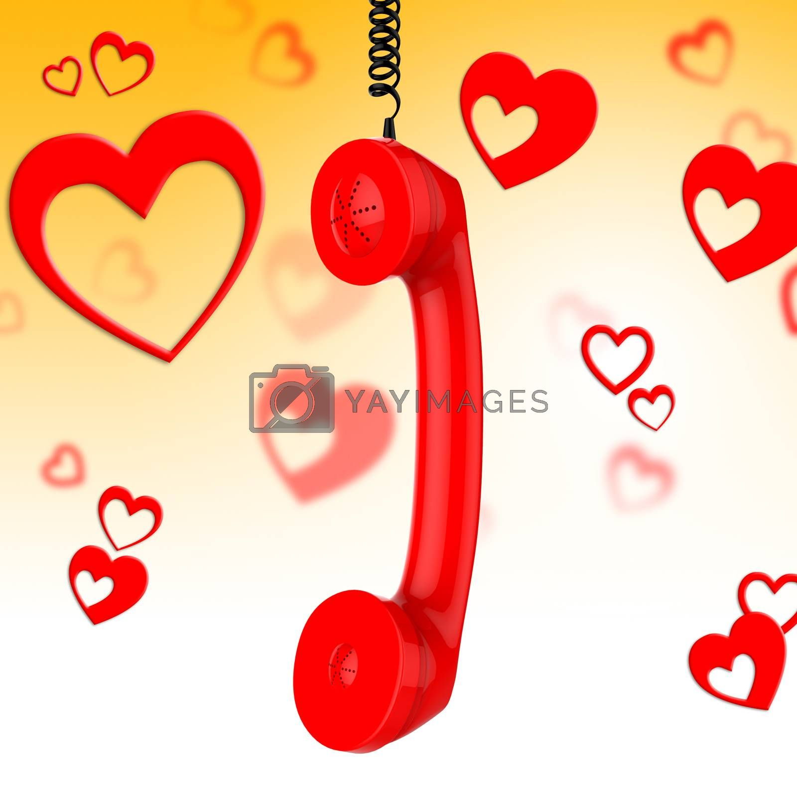 Romantic Call Represents Conversation Fondness And Discussion by stuartmiles