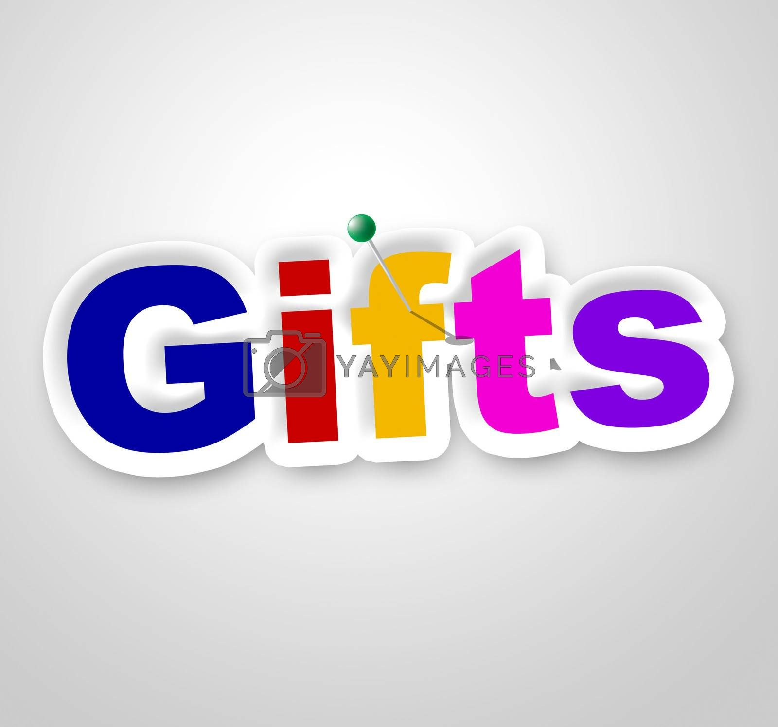 Gifts Sign Shows Box Giftbox And Gift-Box by stuartmiles