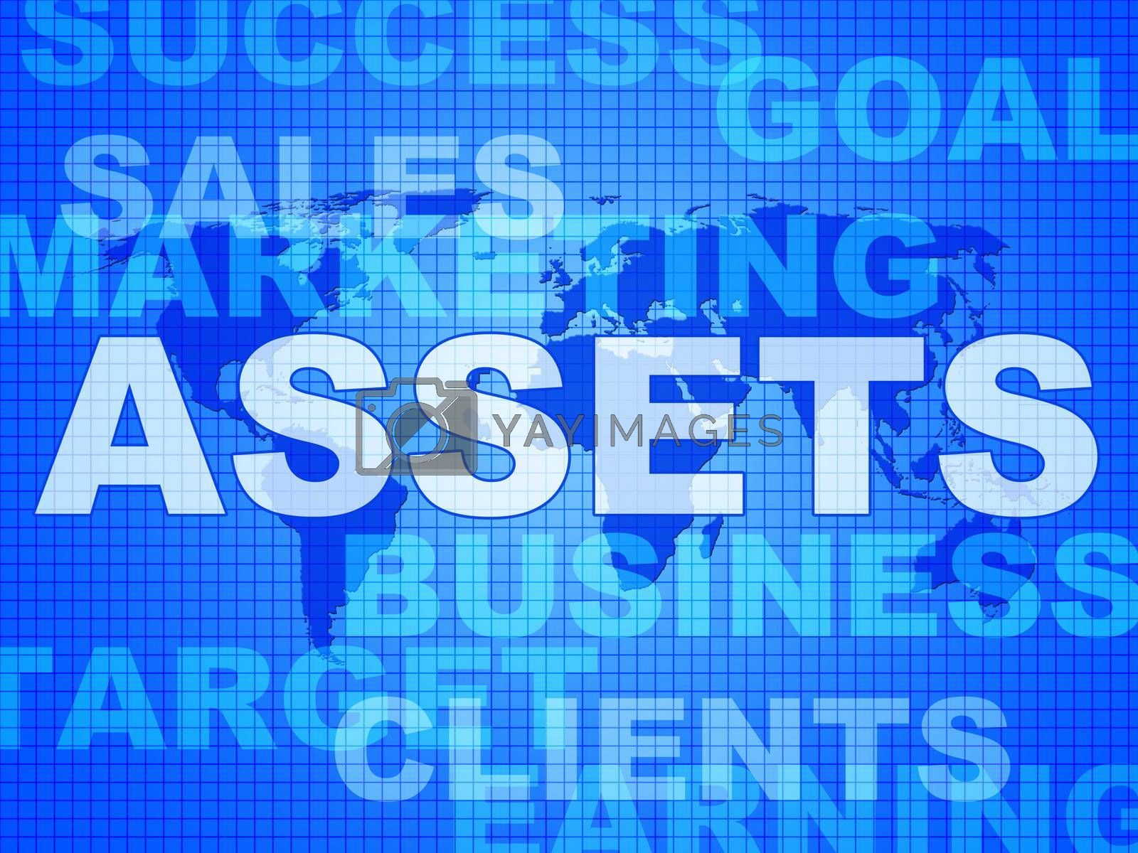 Assets Words Shows Wealth Valuables And Goods by stuartmiles