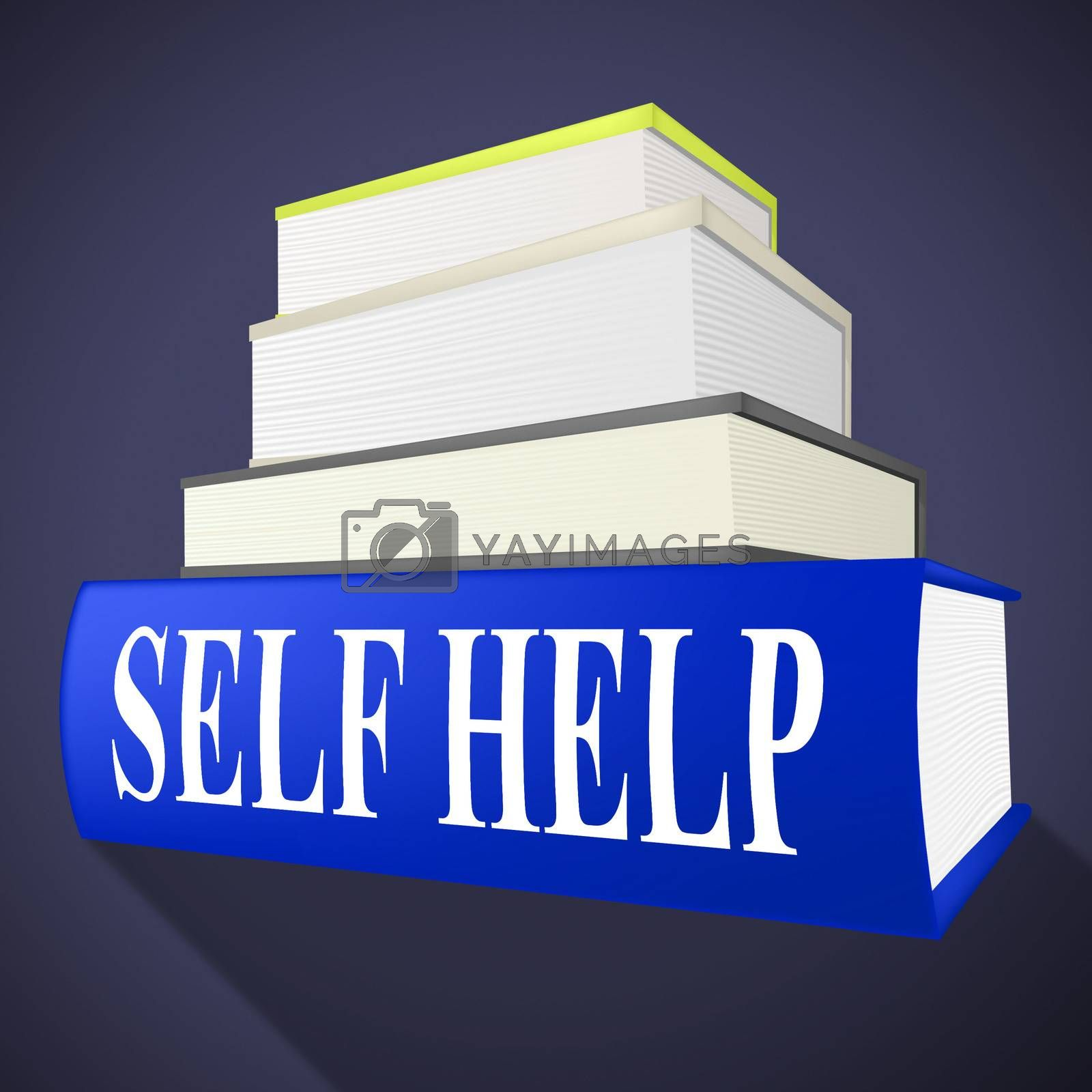Self Help Book Represents Info Information And Counselling by stuartmiles