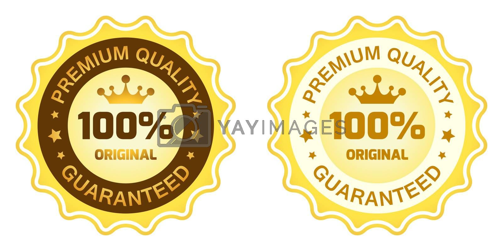 100 Premium Quality Label by WaD