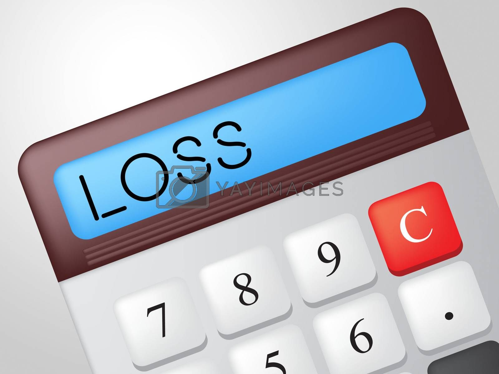 Loss Calculator Represents Commerce Losing And Finances by stuartmiles