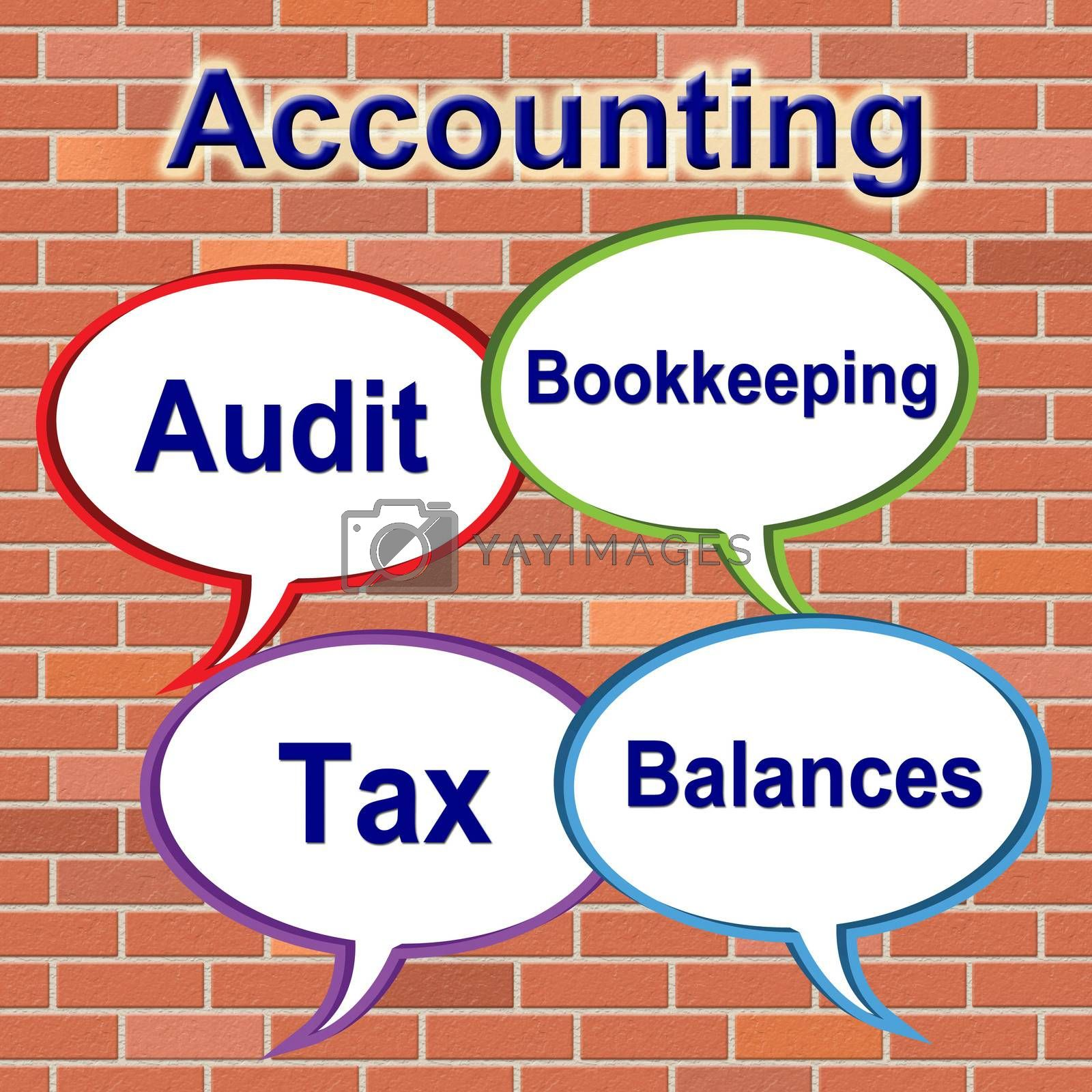 Accounting Words Represents Balancing The Books And Bookkeeping by stuartmiles