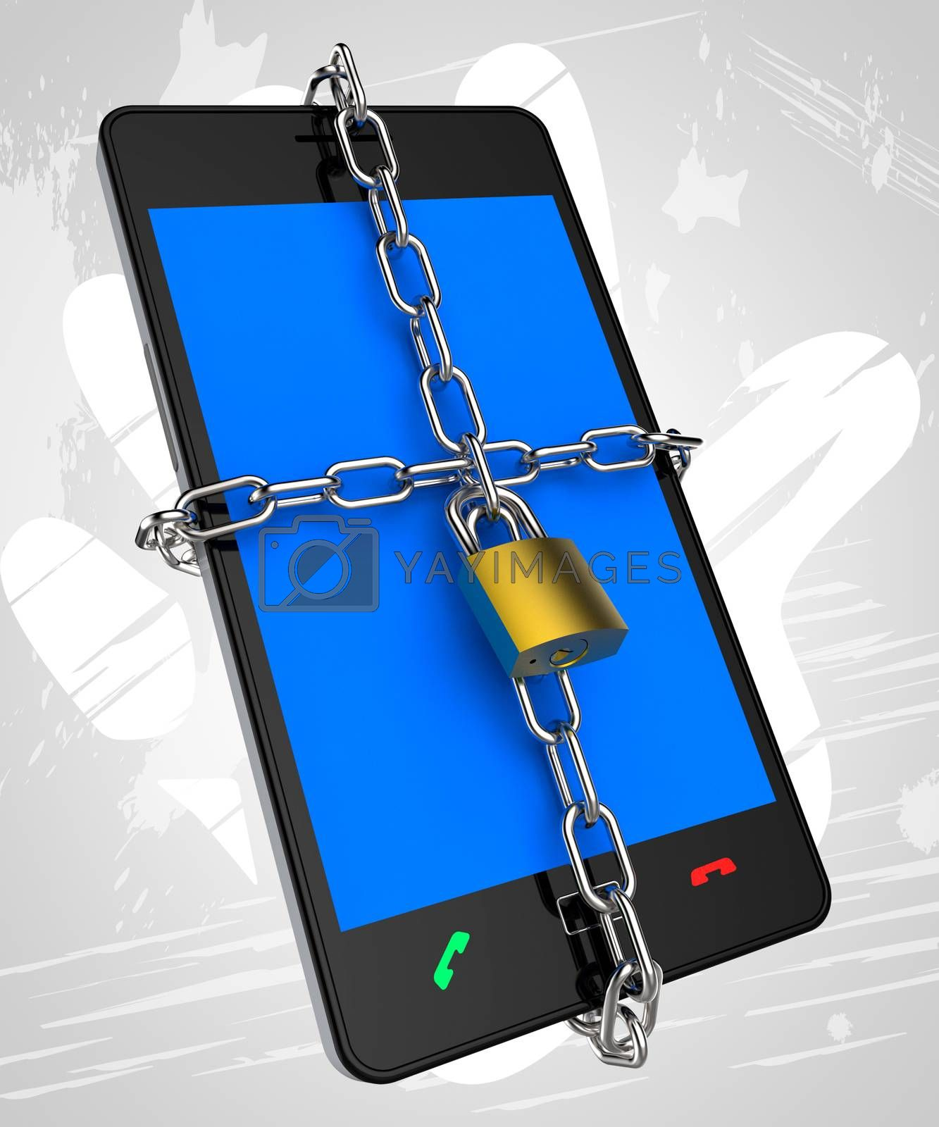 Smartphone Locked Means Security Secured And Protect by stuartmiles