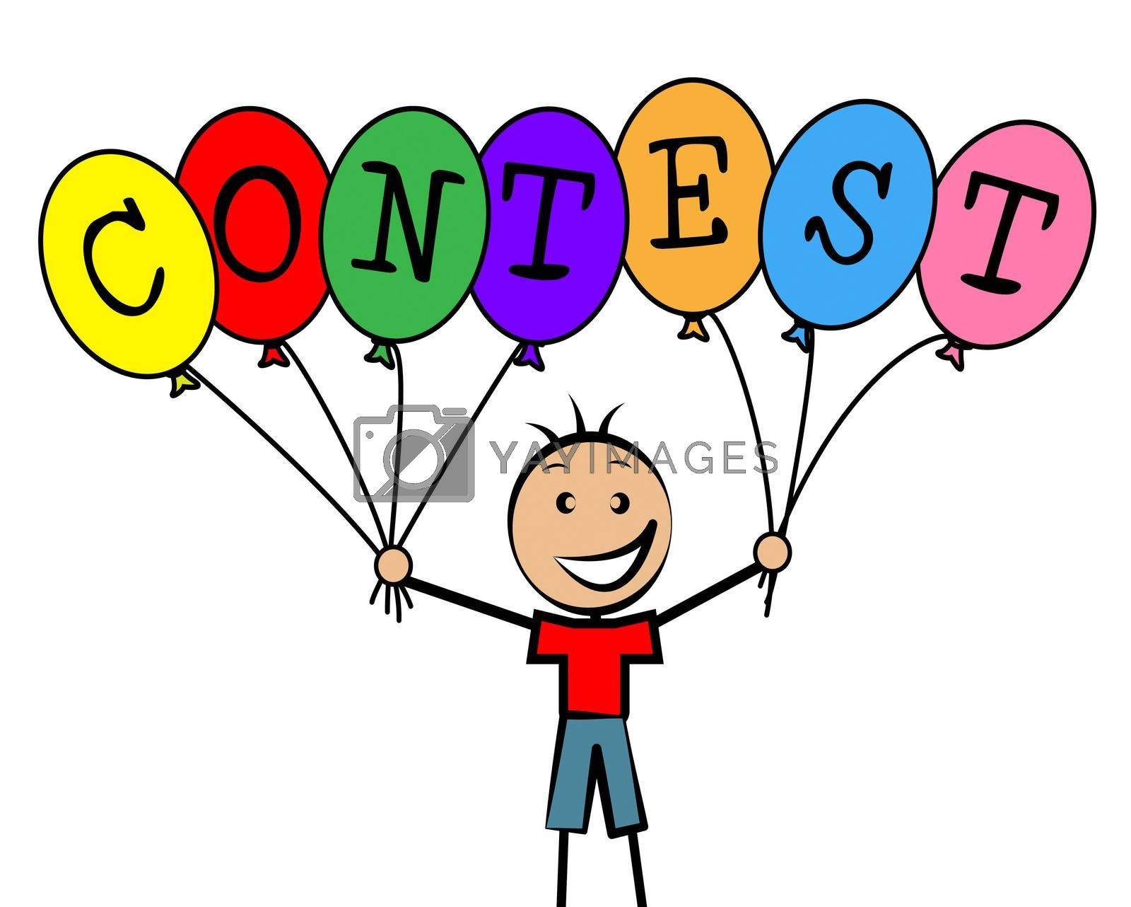 Contest Balloons Means Kids Challenge And Competitiveness by stuartmiles