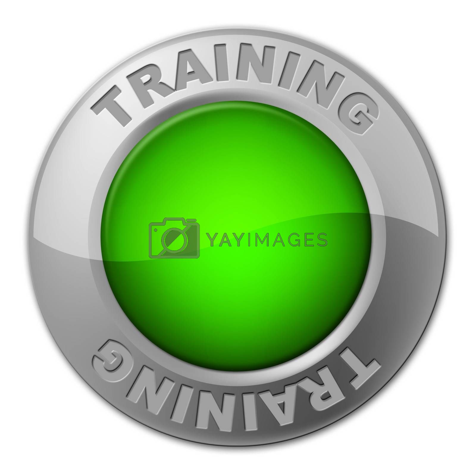 Training Button Indicates Tutoring Education And Learn by stuartmiles