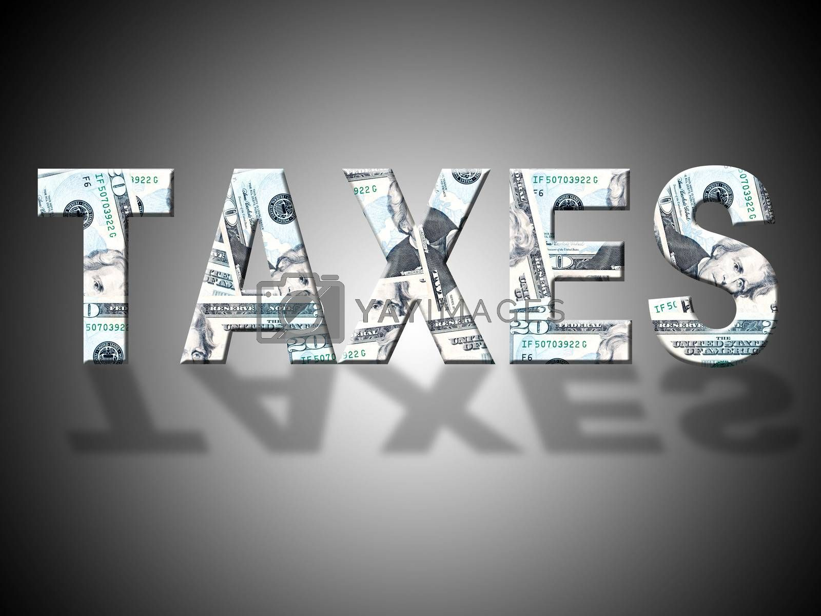 Taxes Dollars Shows United States And Banking by stuartmiles