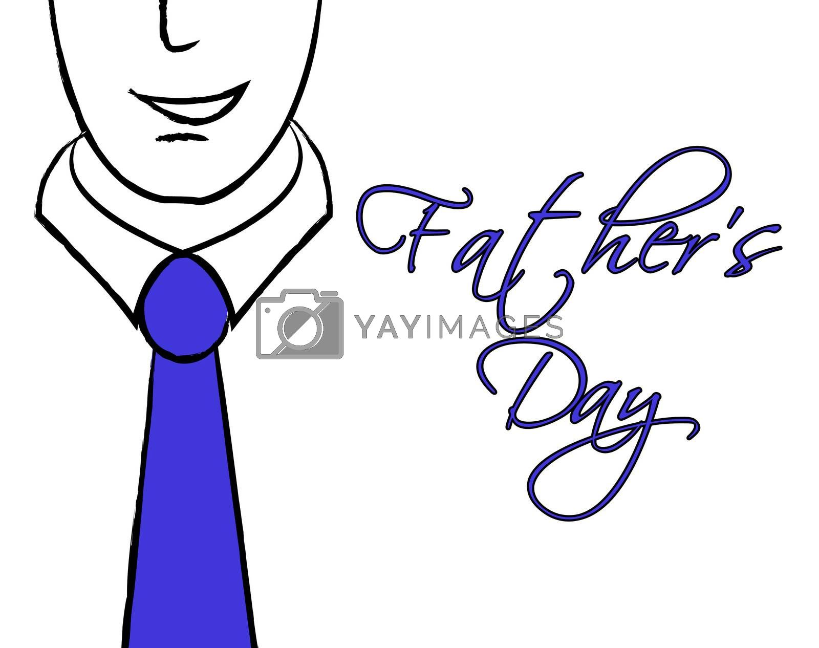 Fathers Day Tie Shows Fun Parenting And Parties by stuartmiles
