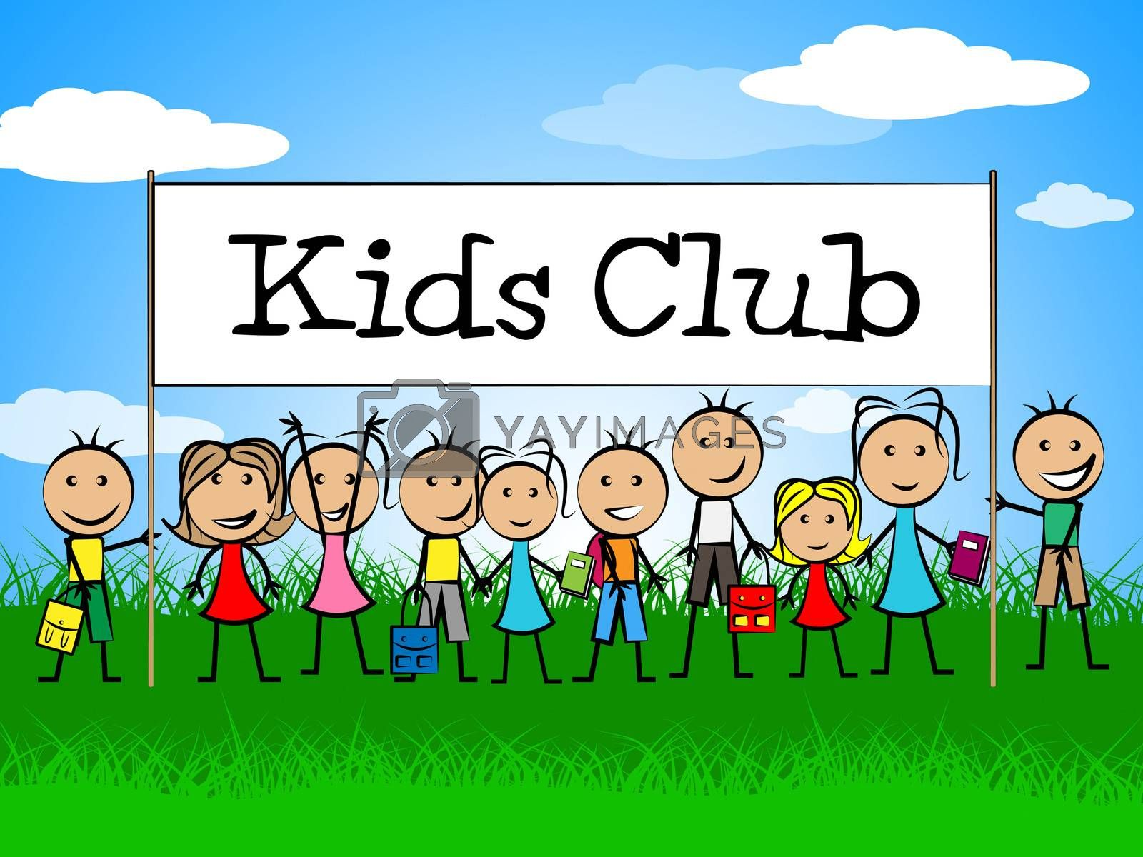 Kids Club Indicates Free Time And Apply by stuartmiles
