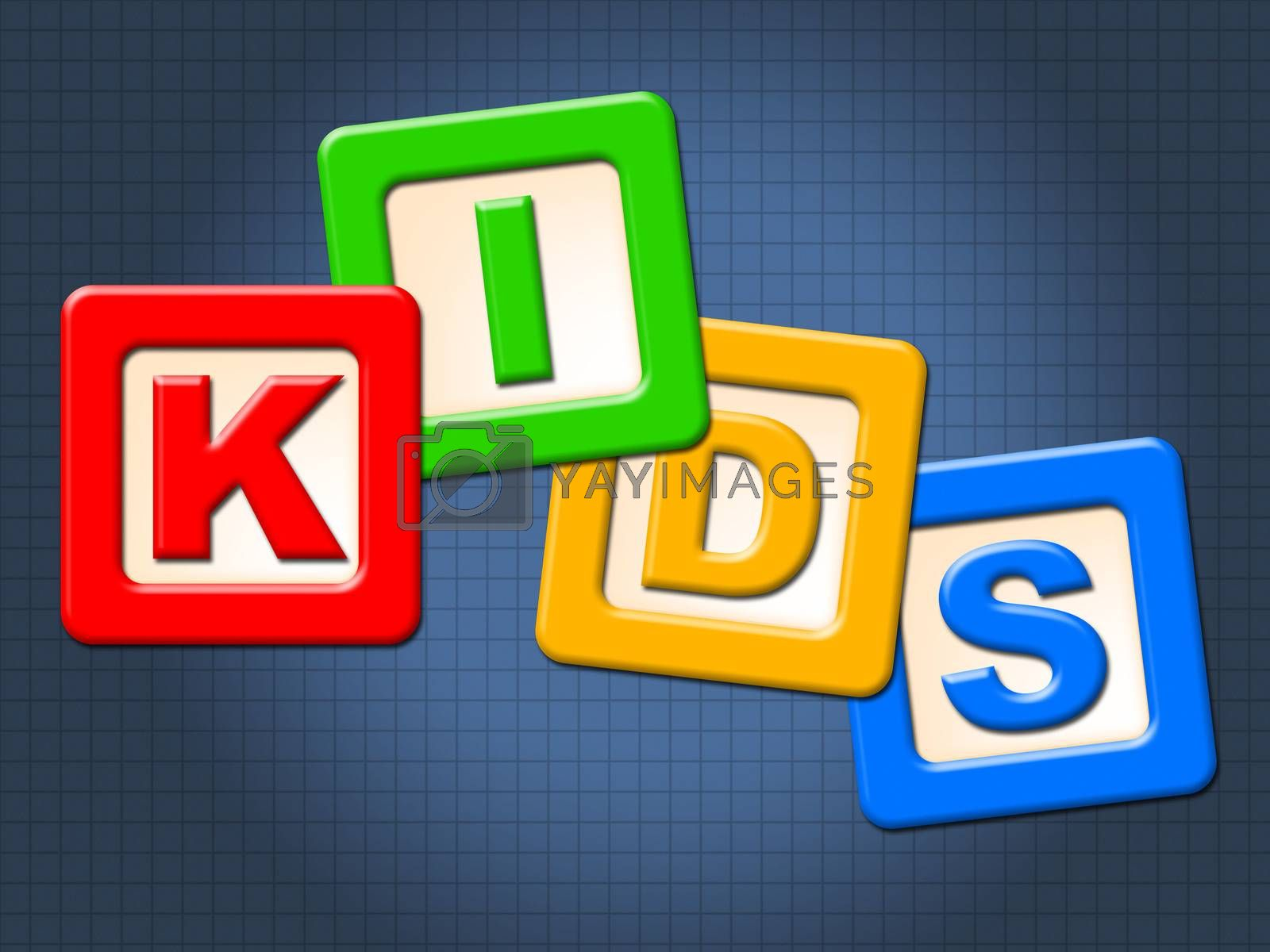 Kids Blocks Indicates Mailing Youngsters And Mailed by stuartmiles