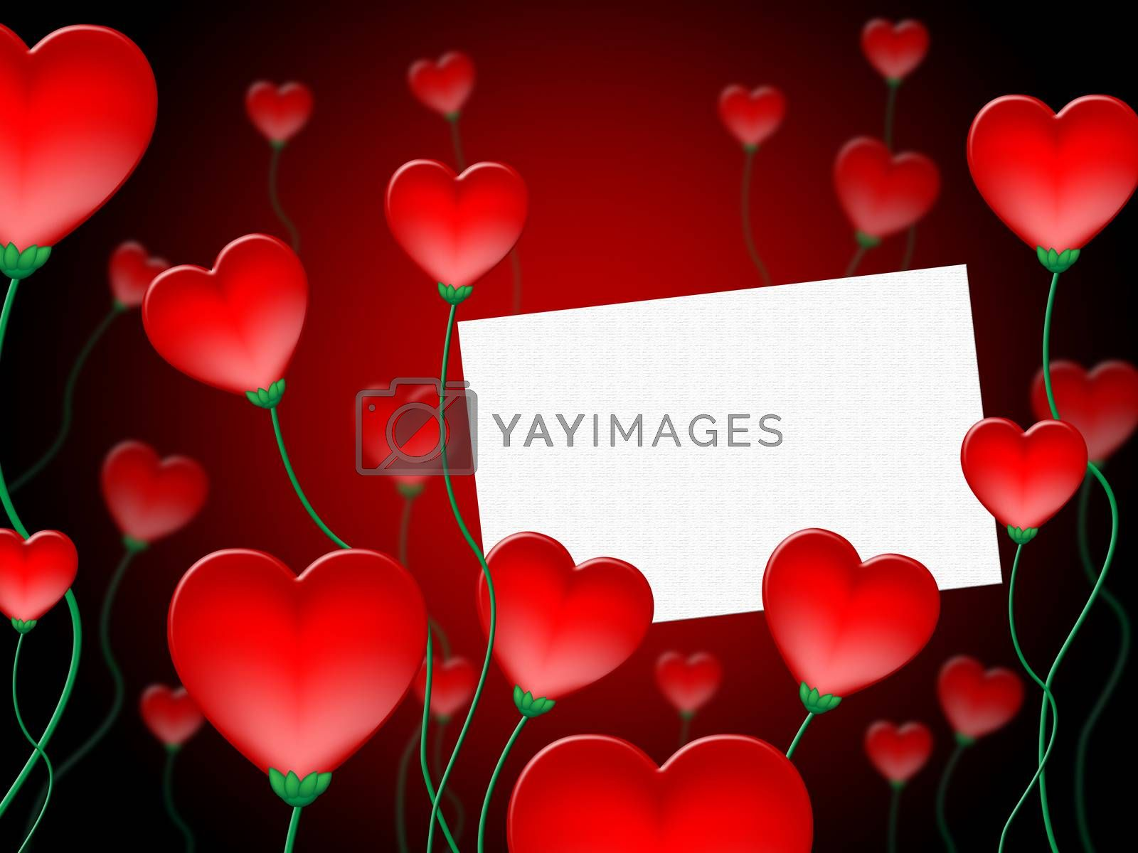 Heart Message Represents Valentine Day And Communication by stuartmiles