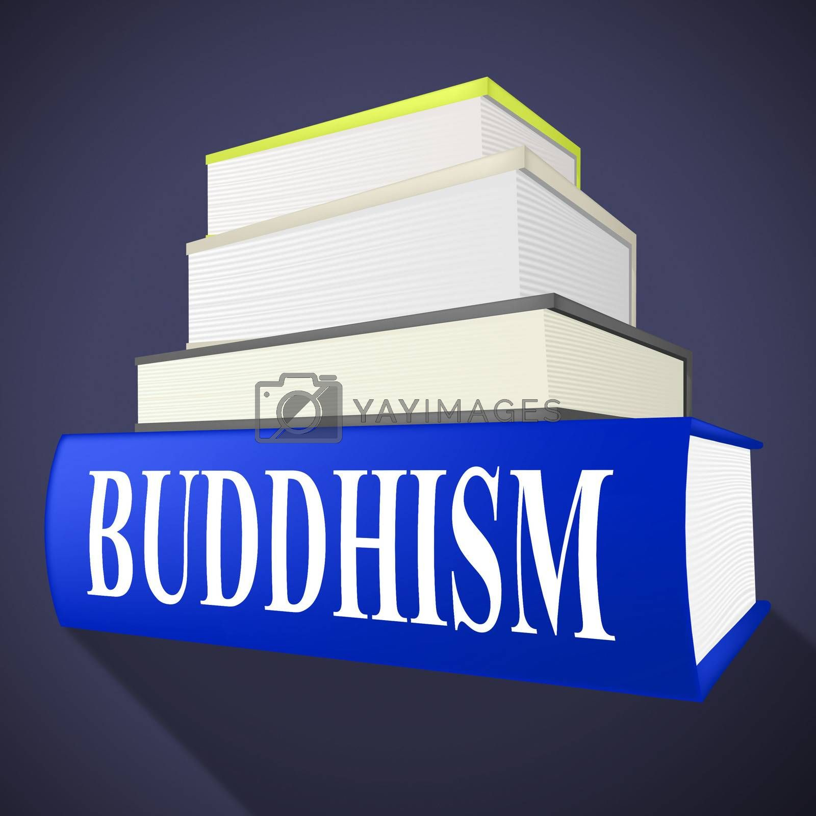 Buddhism Book Shows Spirit Pray And Fiction by stuartmiles