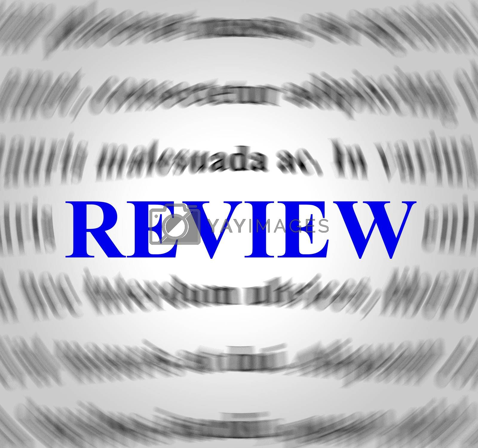Review Definition Represents Evaluate Reviews And Inspection by stuartmiles