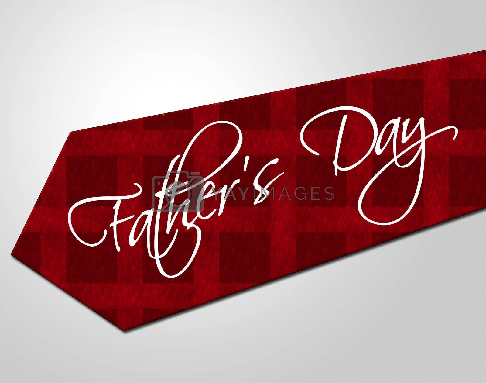 Fathers Day Tie Represents Parenting Cheerful And Fatherhood by stuartmiles