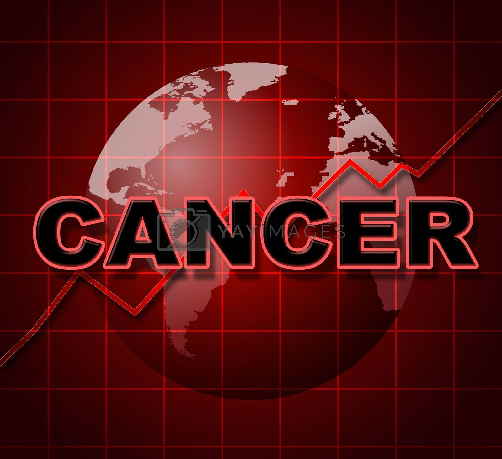 Cancer Graph Indicates Cancerous Growth And Diagram by stuartmiles