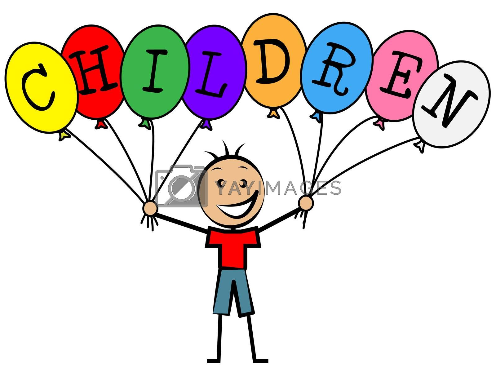 Children Balloons Meaning Decoration Youths And Youngster