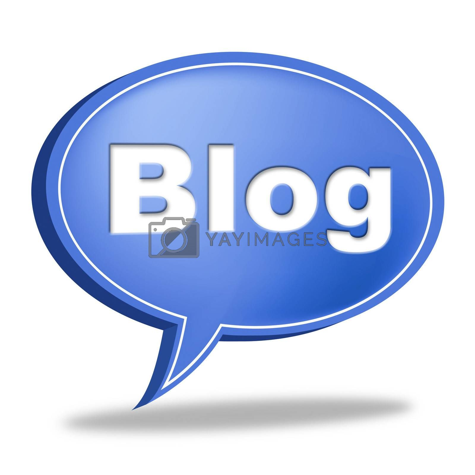 Blog Message Means World Wide Web And Blogging by stuartmiles