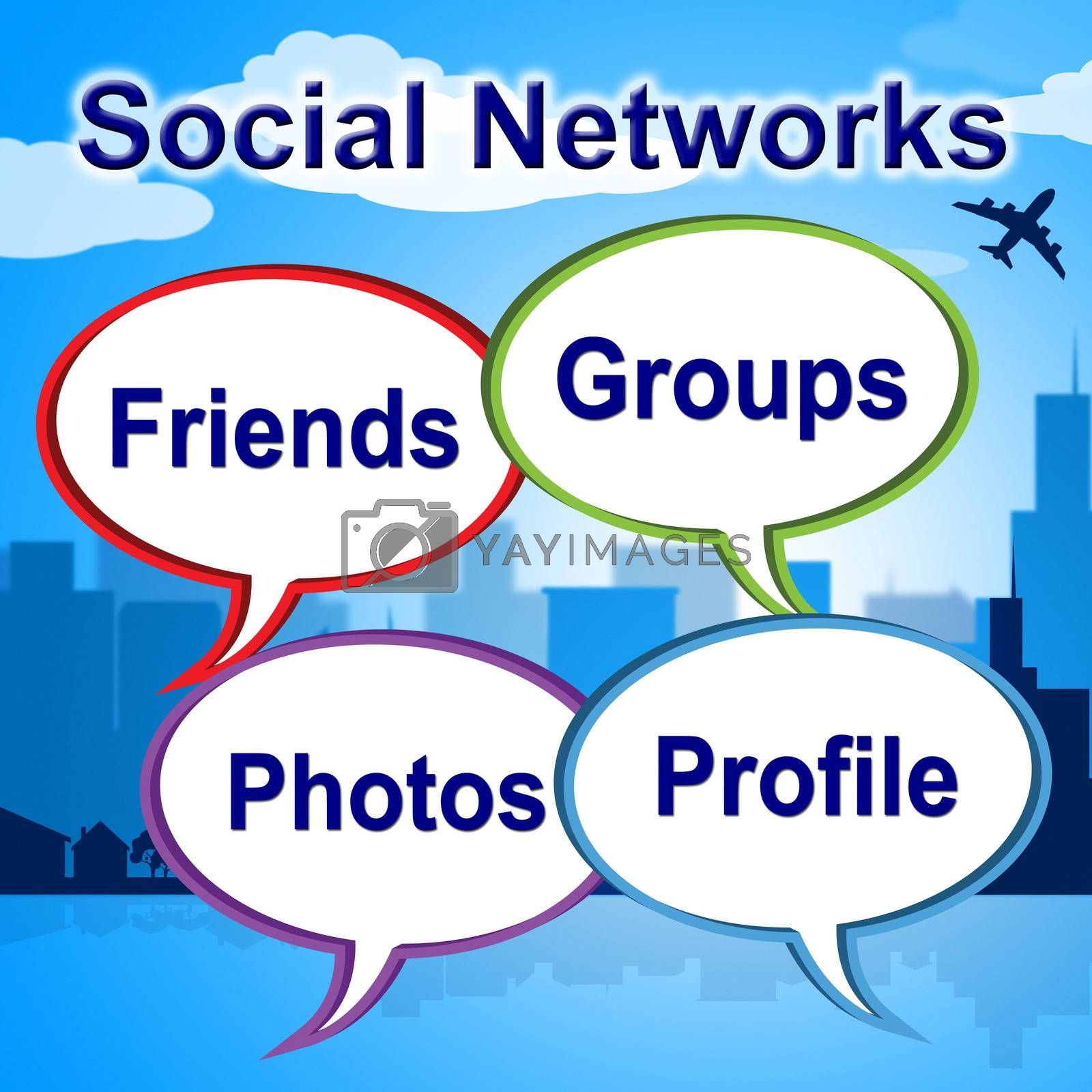 Social Networks Words Shows Blogging Blogs And Internet by stuartmiles