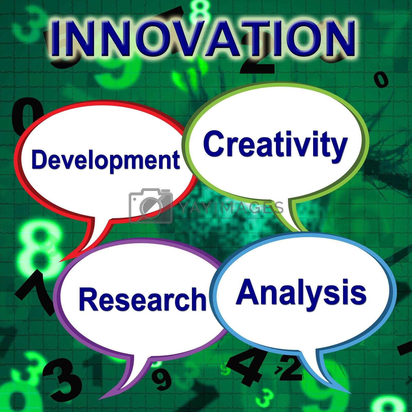Innovation Words Shows Innovating Transformation And Manufacture by stuartmiles
