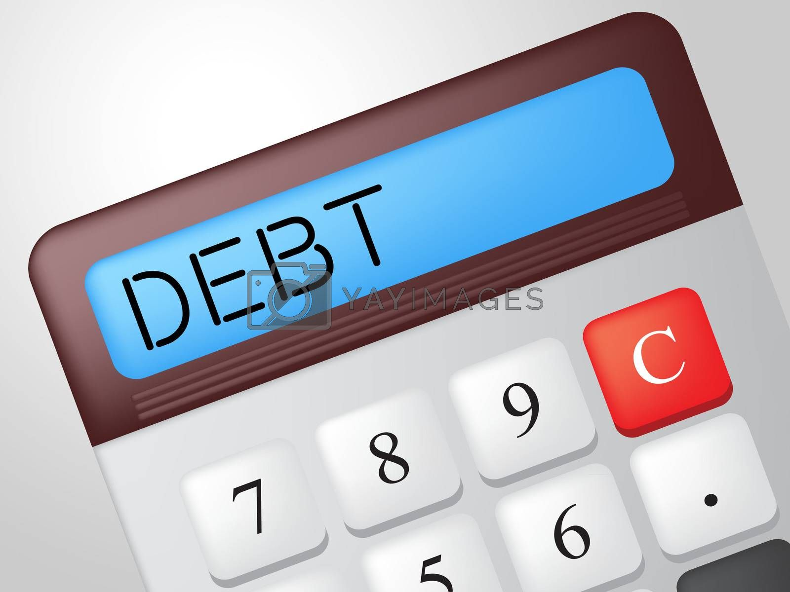 Debt Calculator Indicates Financial Obligation And Calculation by stuartmiles