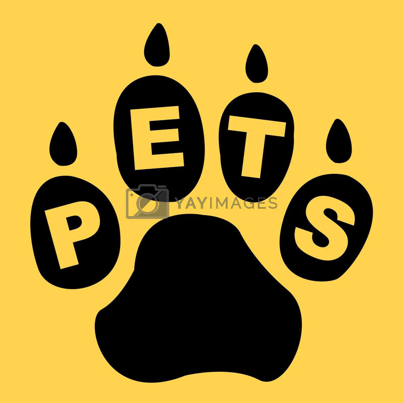 Pets Paw Shows Domestic Animal And Creature by stuartmiles