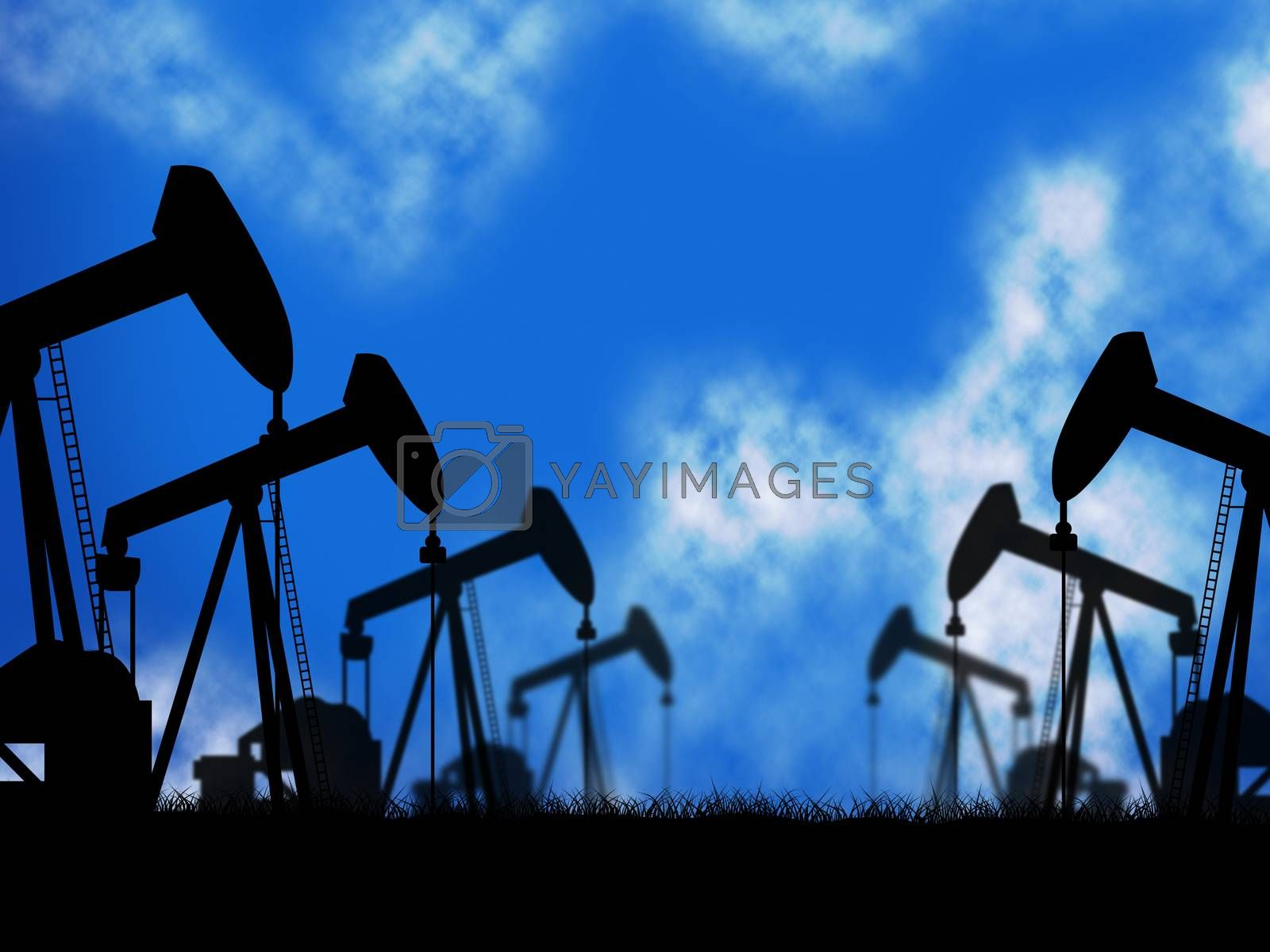 Oil Wells Represents Extraction Drill And Oilwell by stuartmiles