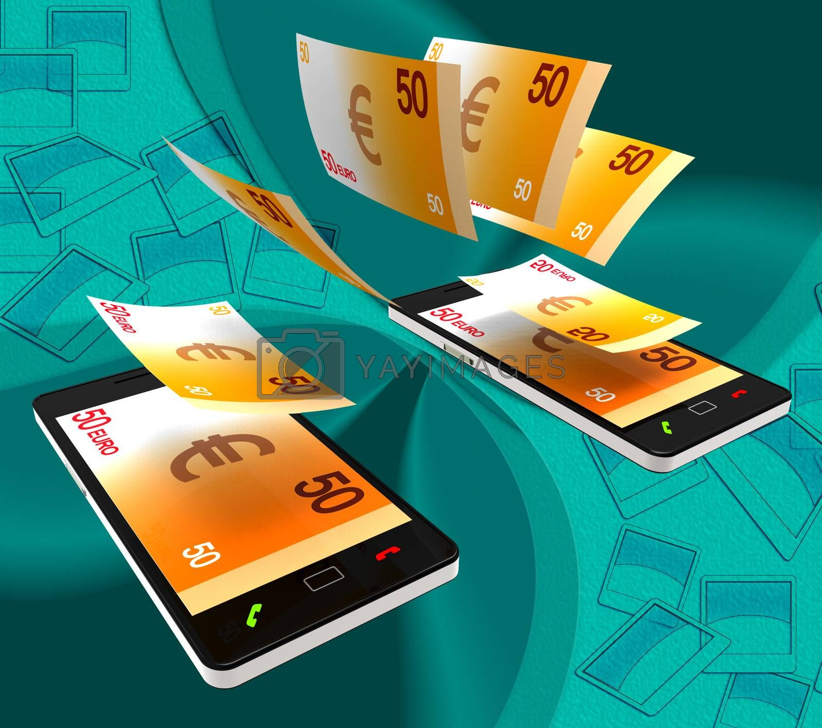 Euros Transfer Indicates Exchanging Money And Cash by stuartmiles