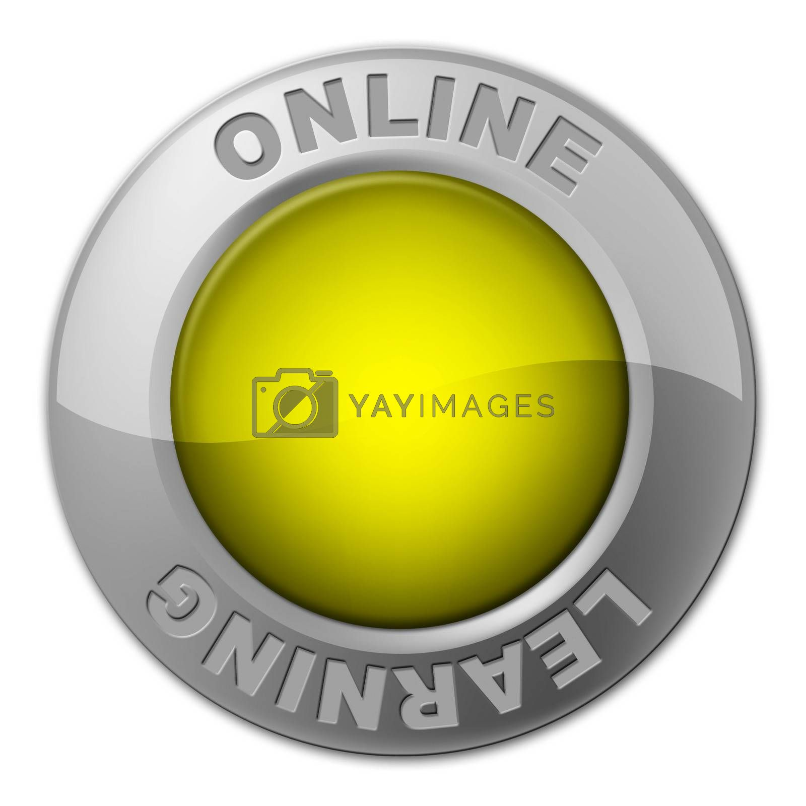 Online Button Represents World Wide Web And Knob by stuartmiles