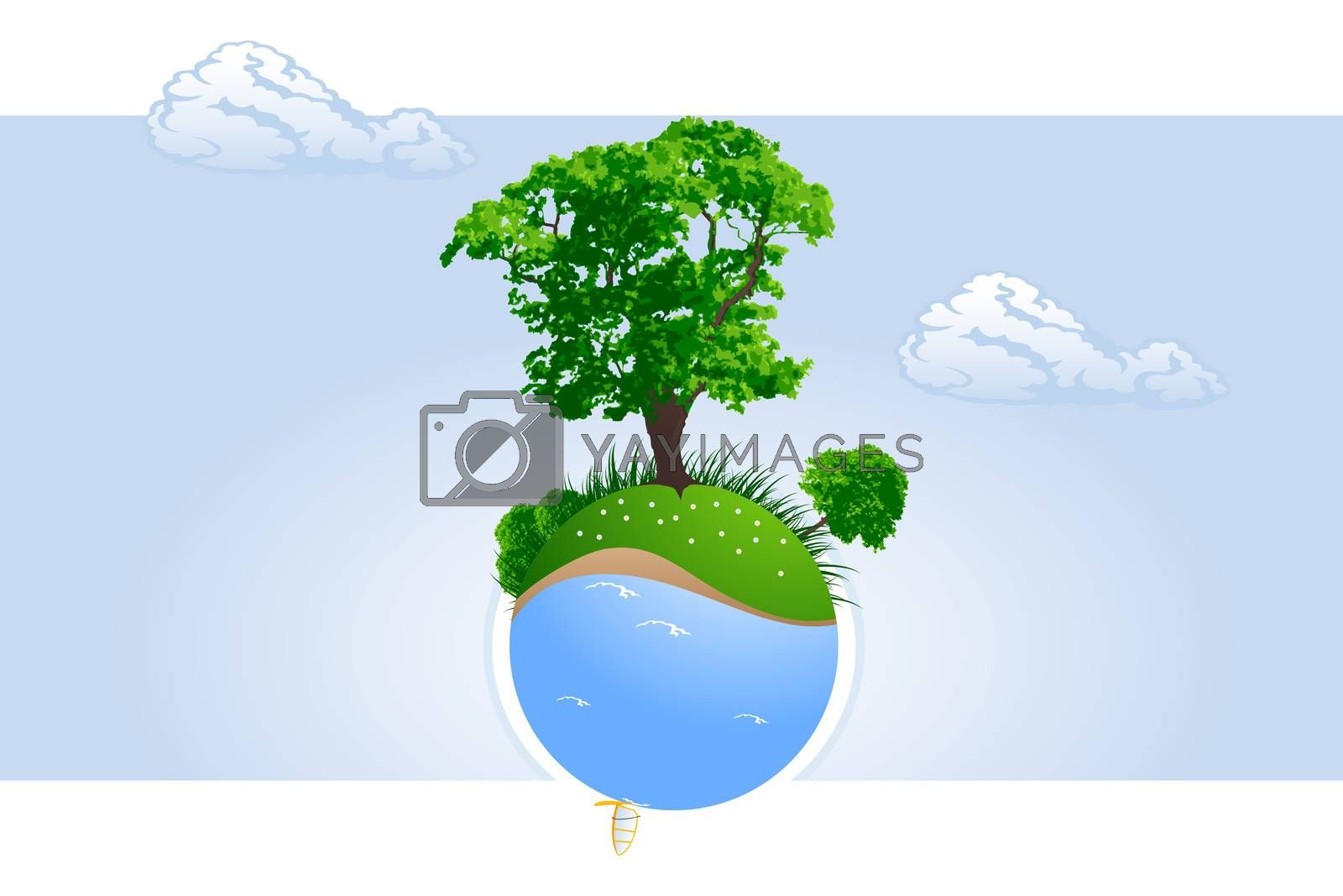 Green planet by WaD