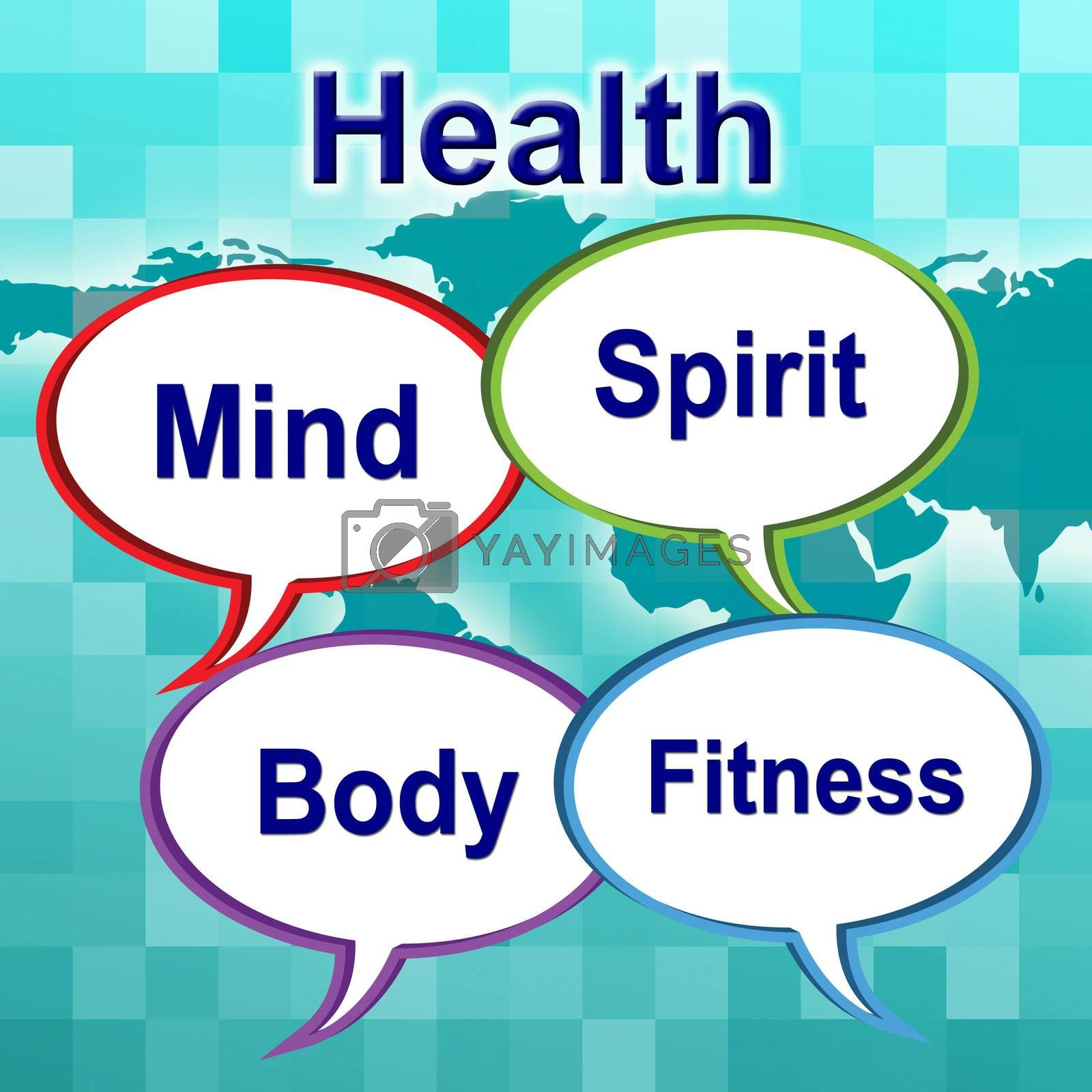 Health Words Indicates Well Healthcare And Wellness by stuartmiles