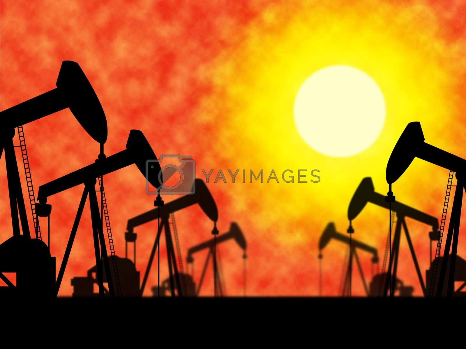 Oil Wells Means Industrial Nonrenewable And Extract by stuartmiles