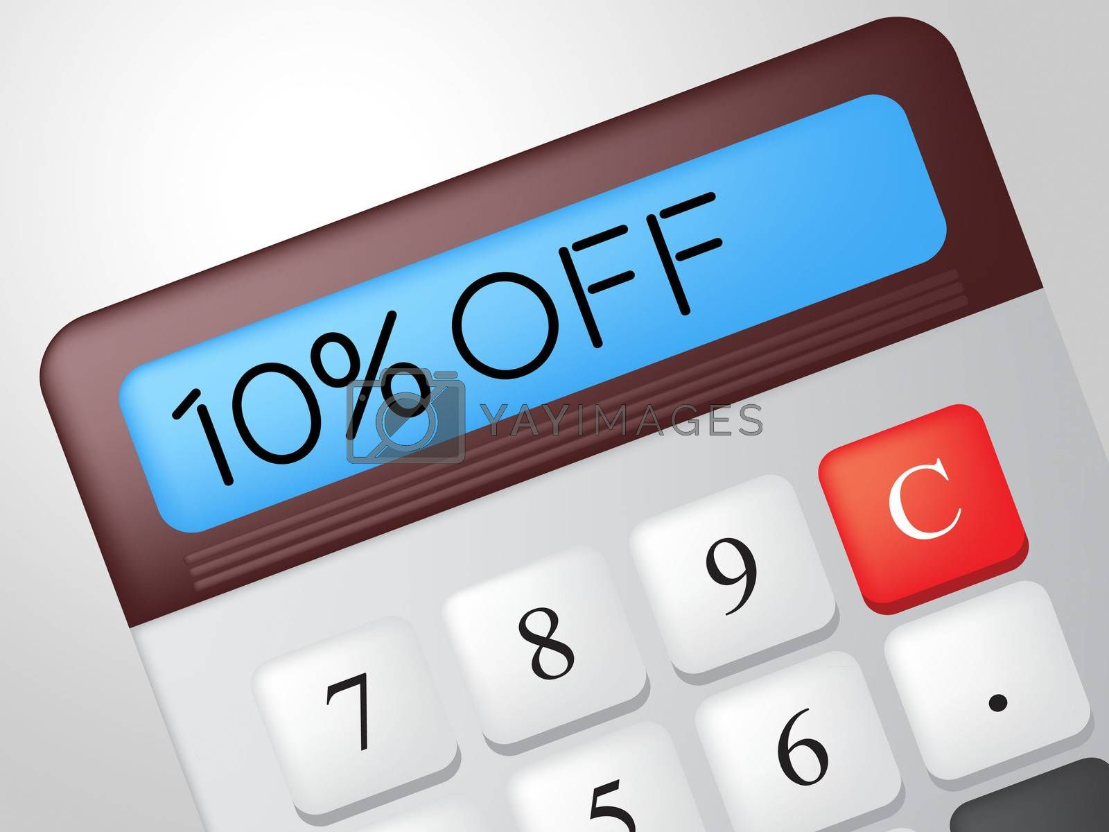Ten Percent Off Indicates Calculate Offer And Sale by stuartmiles