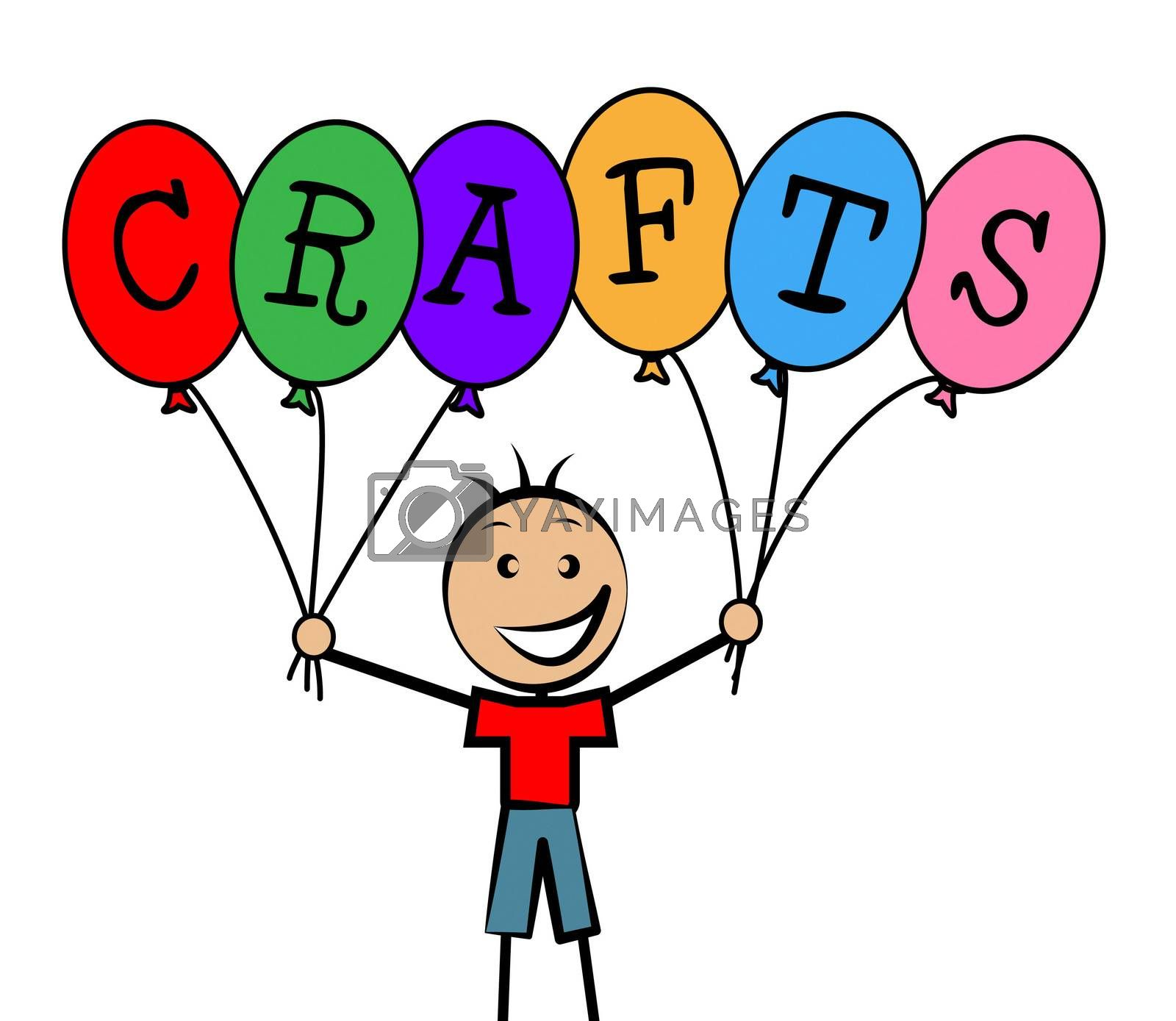 Crafts Balloons Indicates Bunch Male And Designing by stuartmiles