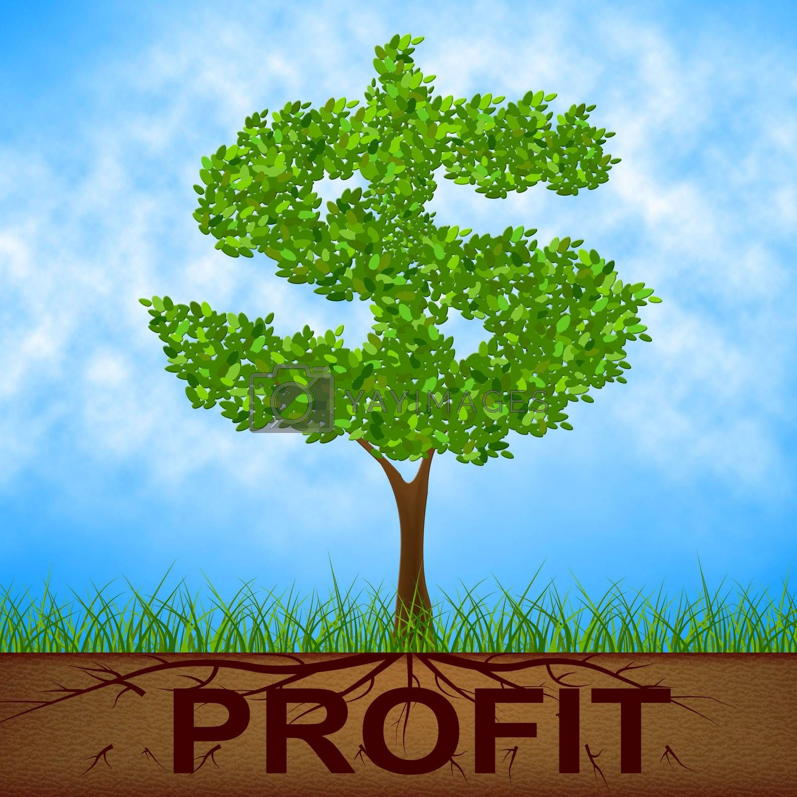 Profit Tree Shows United States And Banking by stuartmiles