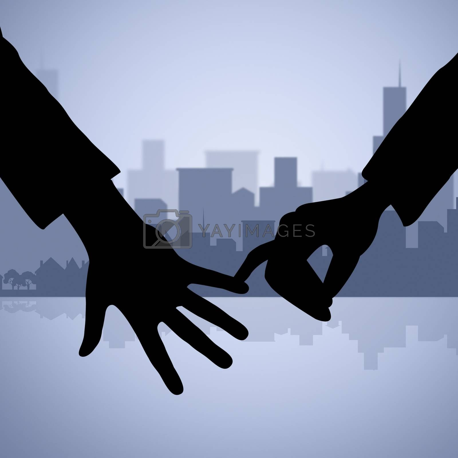 Holding Hands Represents Find Love And Affection by stuartmiles