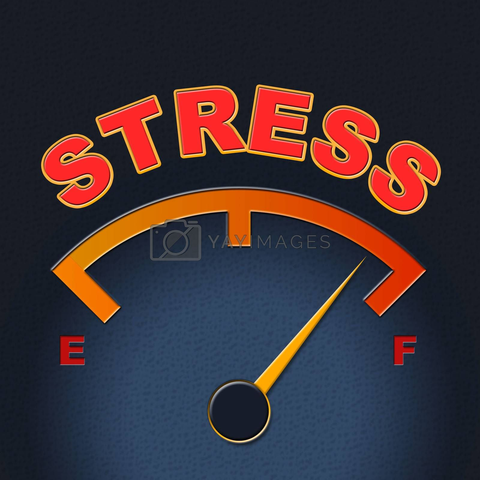 Stress Gauge Means Indicator Dial And Pressure by stuartmiles