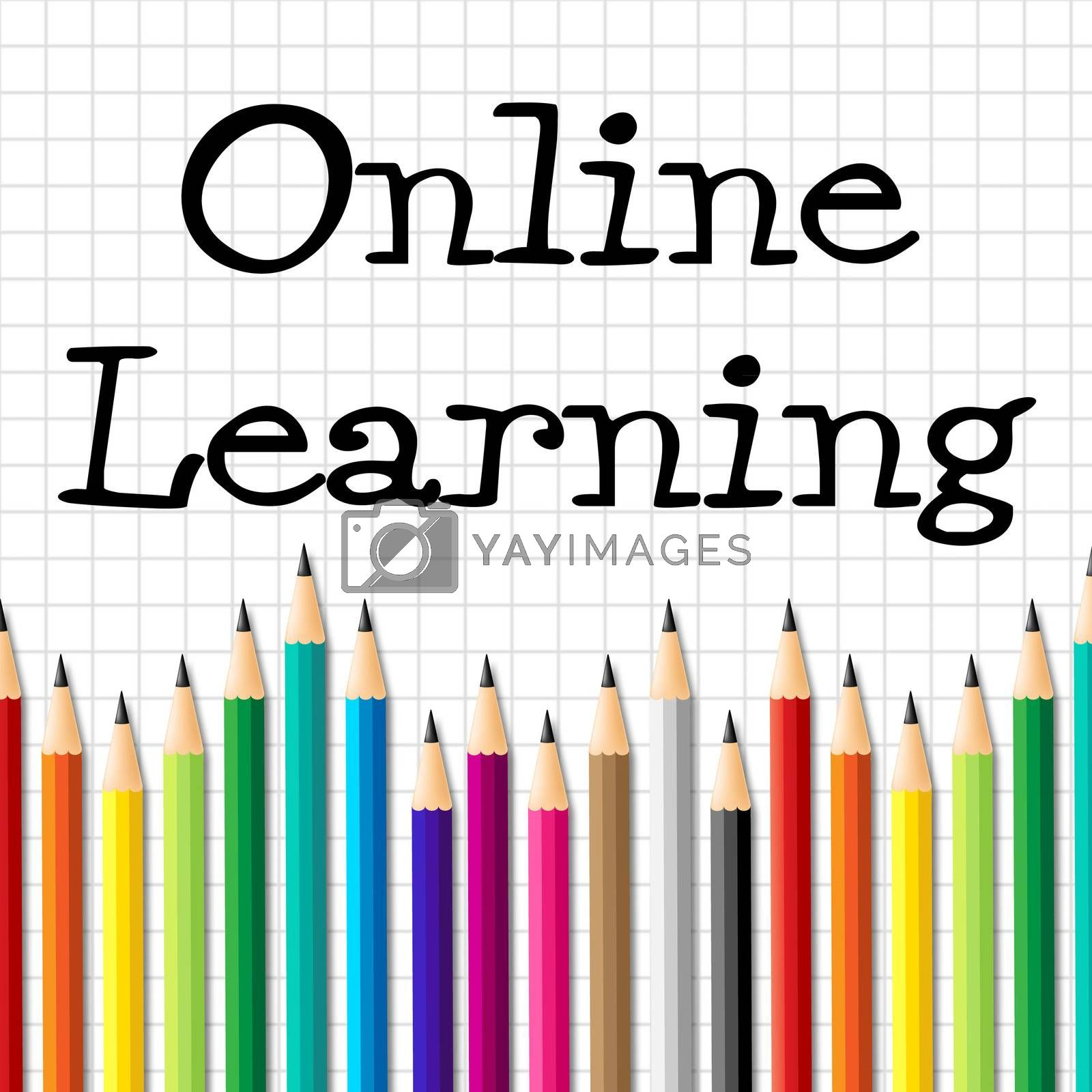Online Learning Pencils Indicating World Wide Web And Www