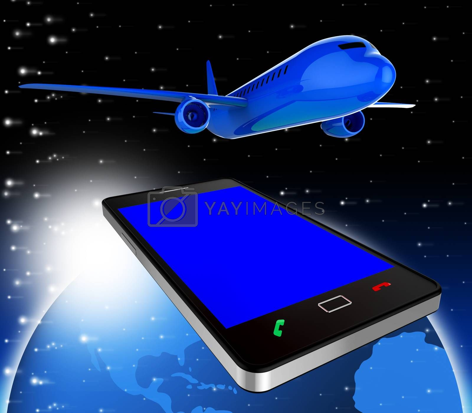 Book Flights Indicates Airline Plane And Reservation by stuartmiles