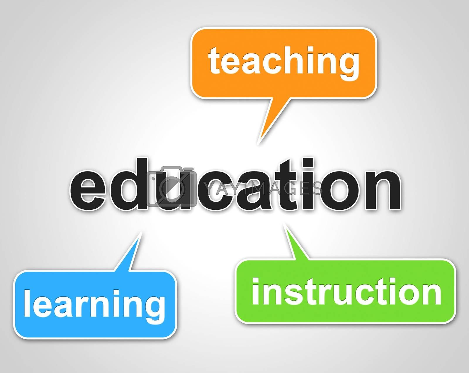 Education Words Represents Learning Tutoring And Schooling by stuartmiles