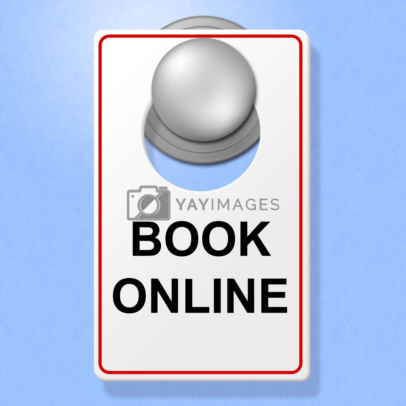 Book Online Sign Represents Single Room And Accommodation by stuartmiles