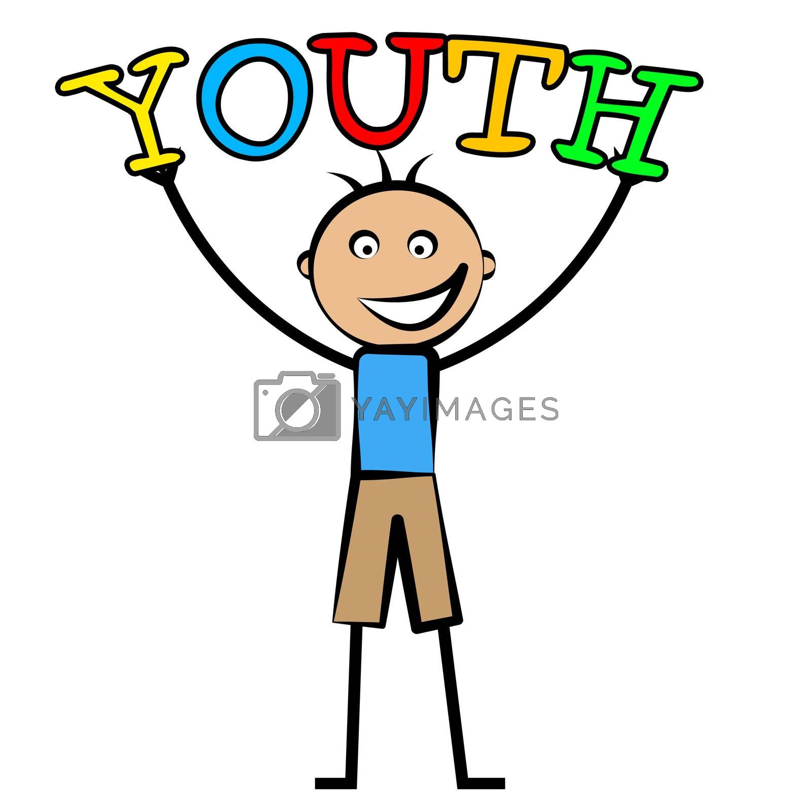 Youth Boy Indicates Kids Kid And Children by stuartmiles