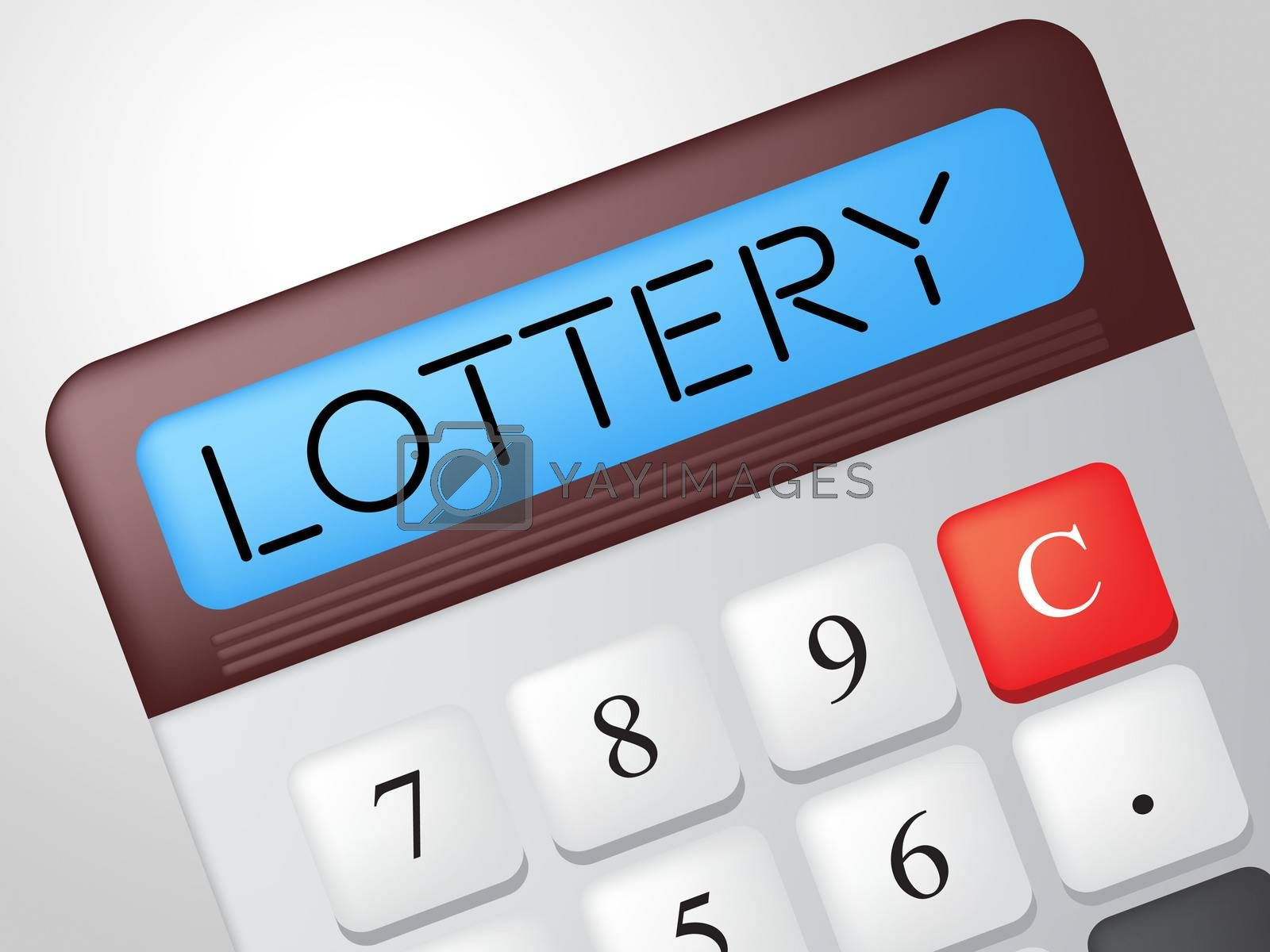 Lottery Calculator Shows Gamble Jackpot And Fortune by stuartmiles