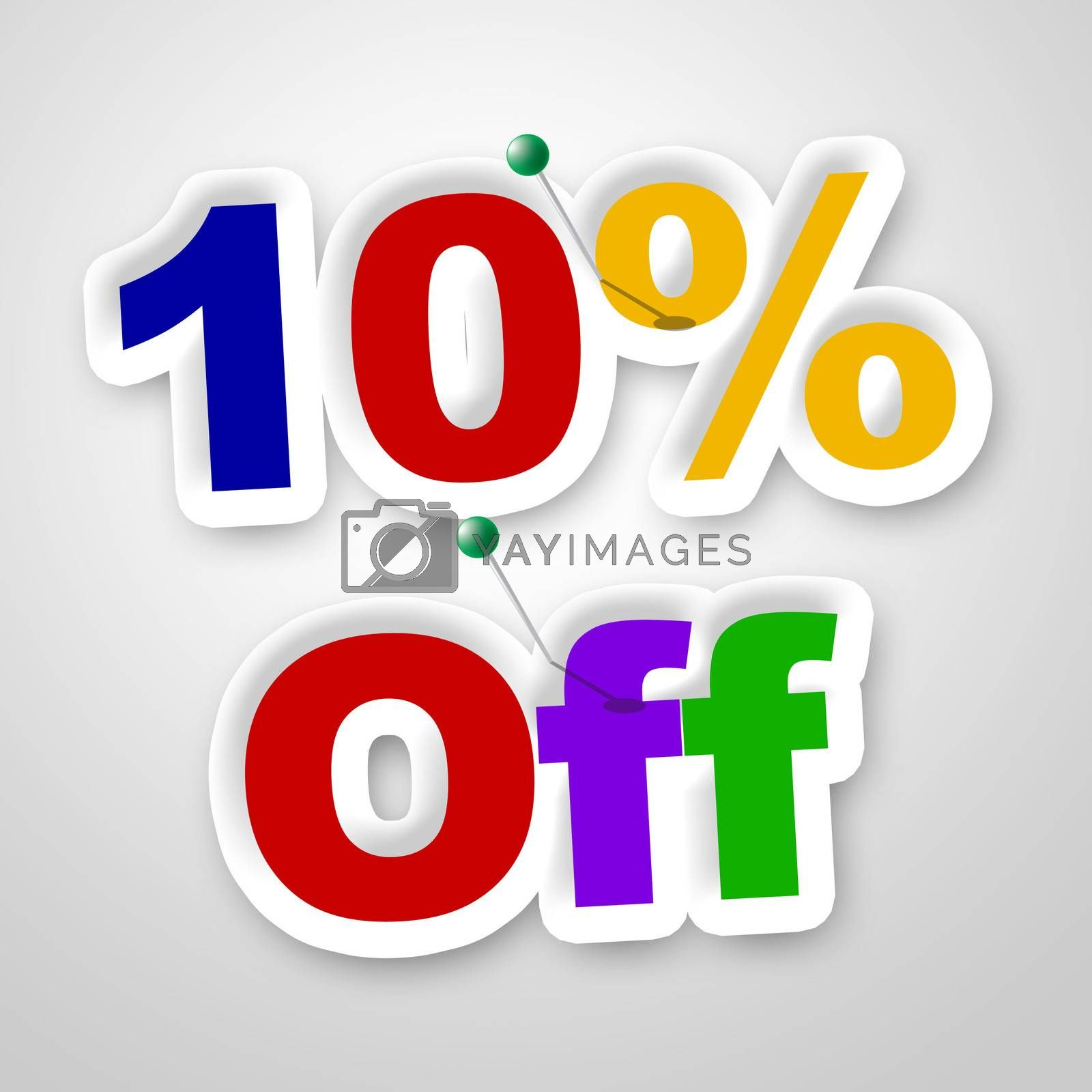 Ten Percent Off Means Promo Retail And Merchandise by stuartmiles