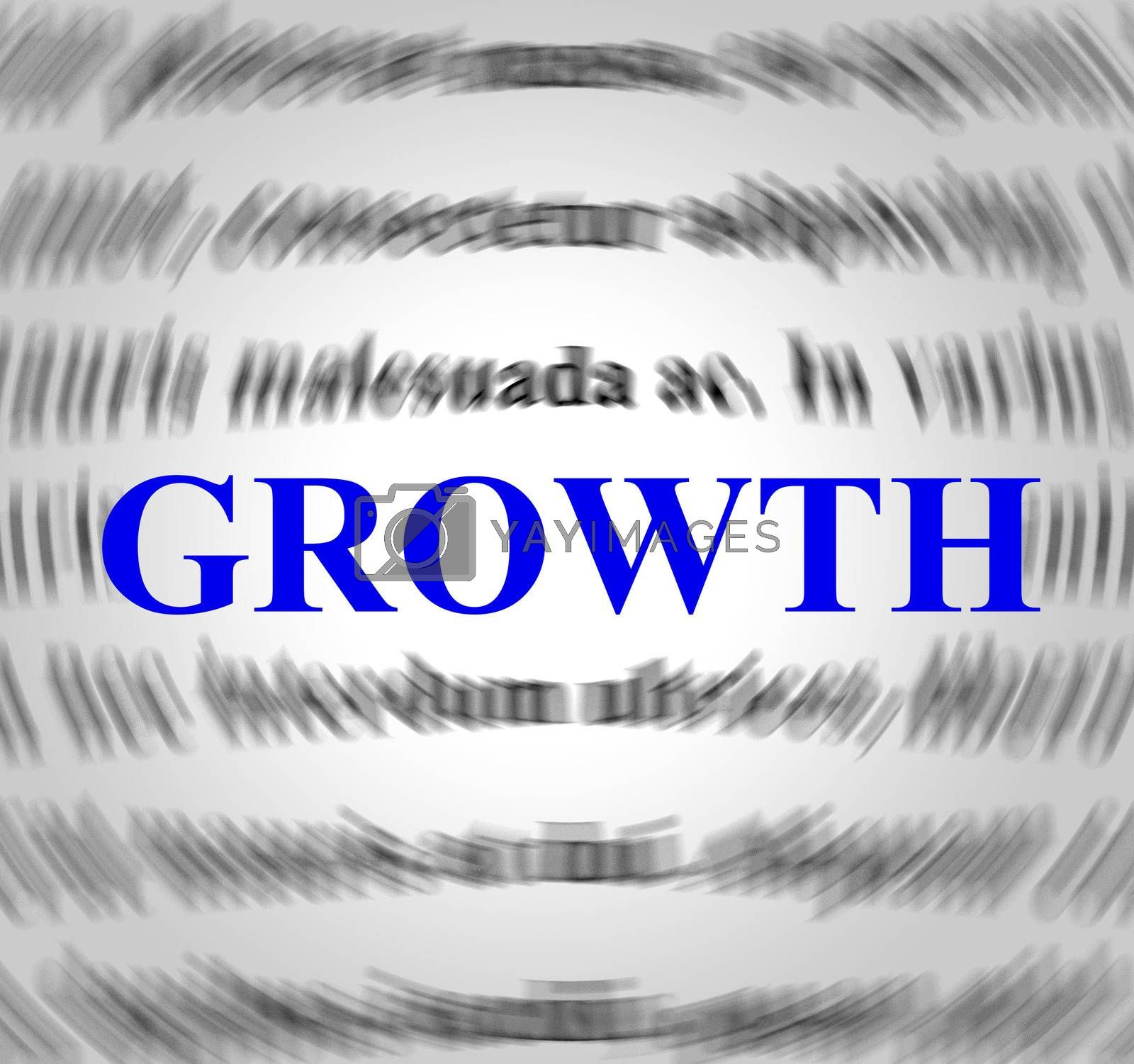 Growth Definition Means Means Improvement And Develop by stuartmiles