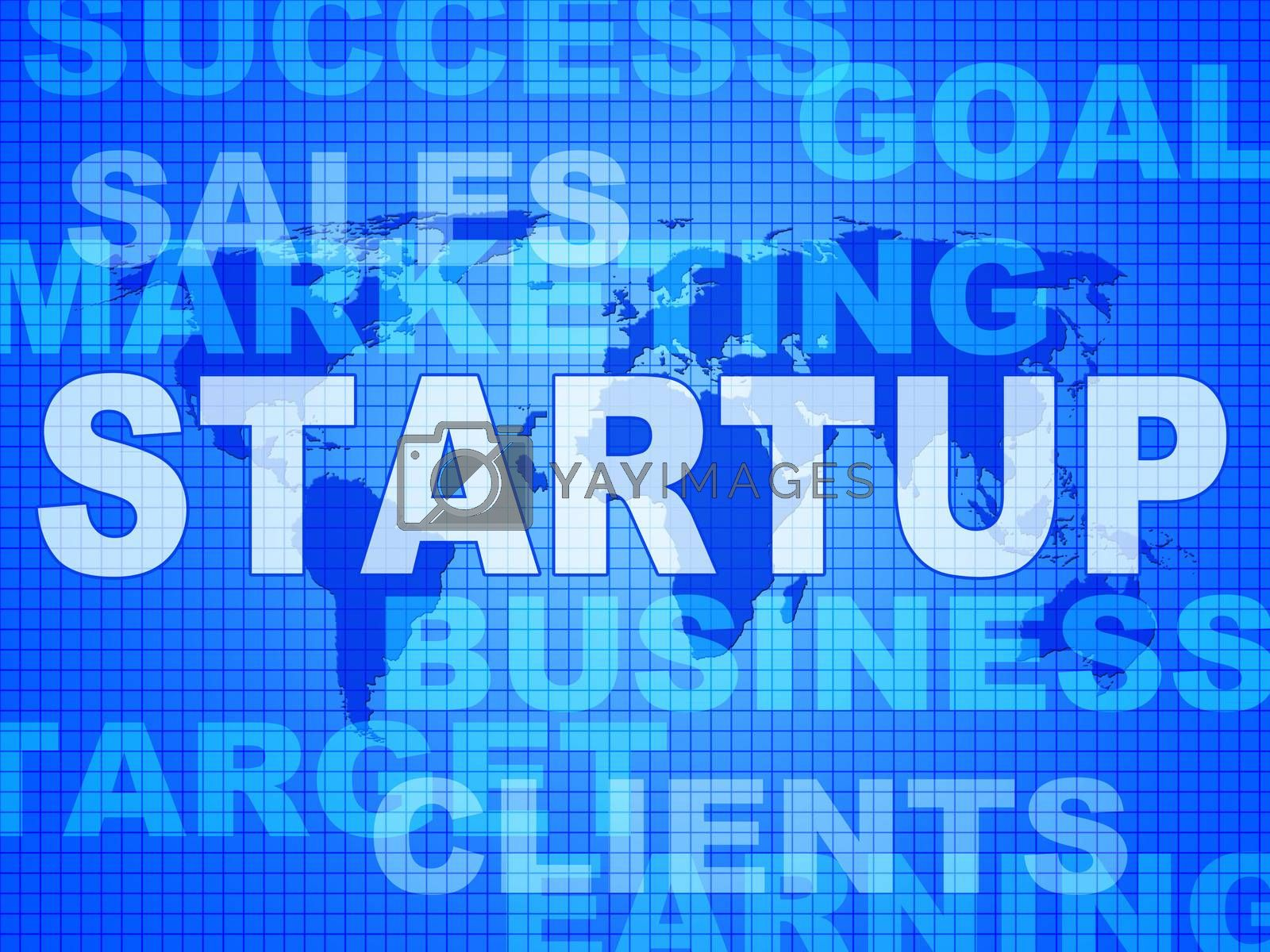 Startup Words Means Self Employed And Entrepreneur by stuartmiles