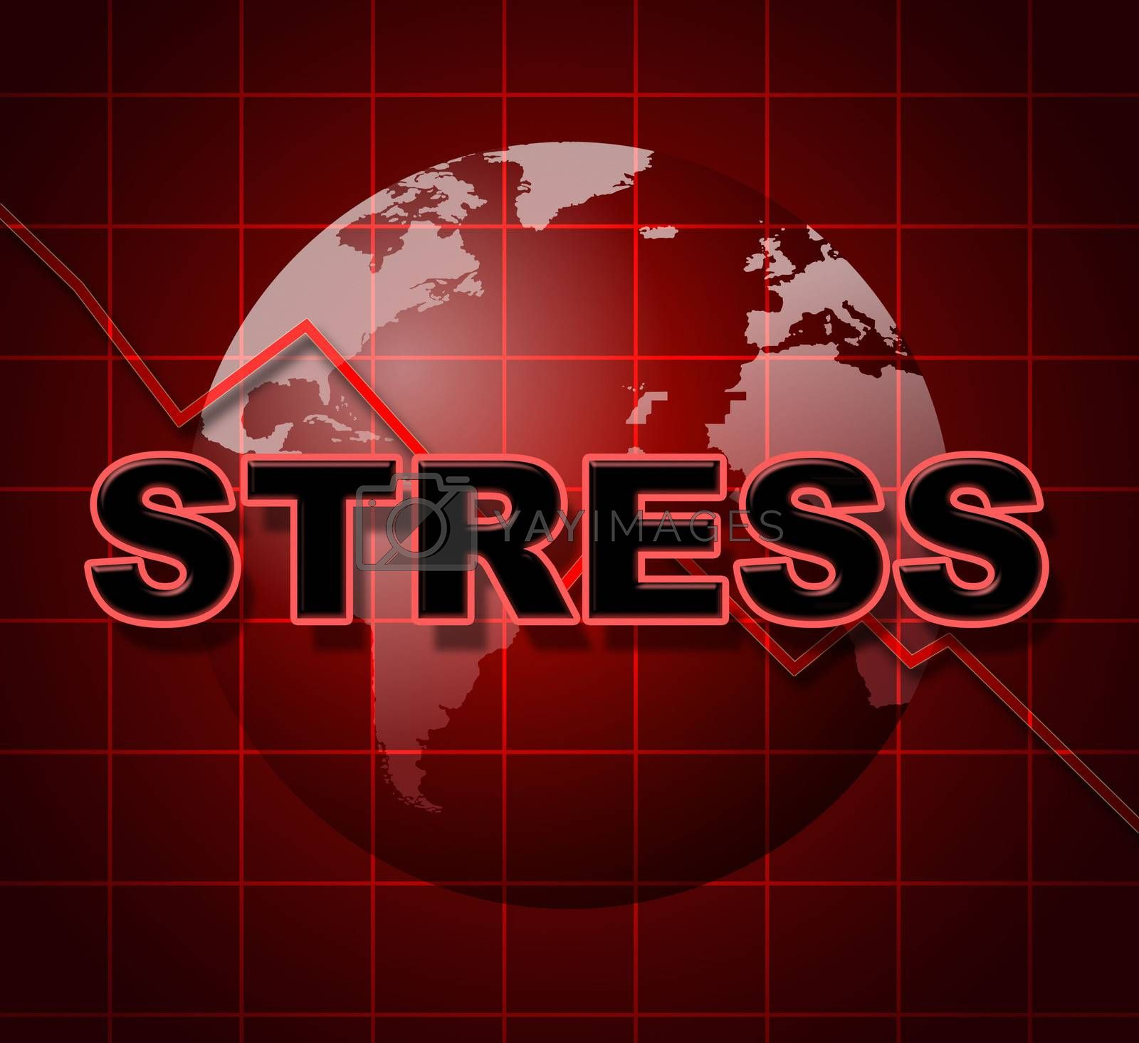 Stress Graph Represents Profit Pressure And Stressing by stuartmiles