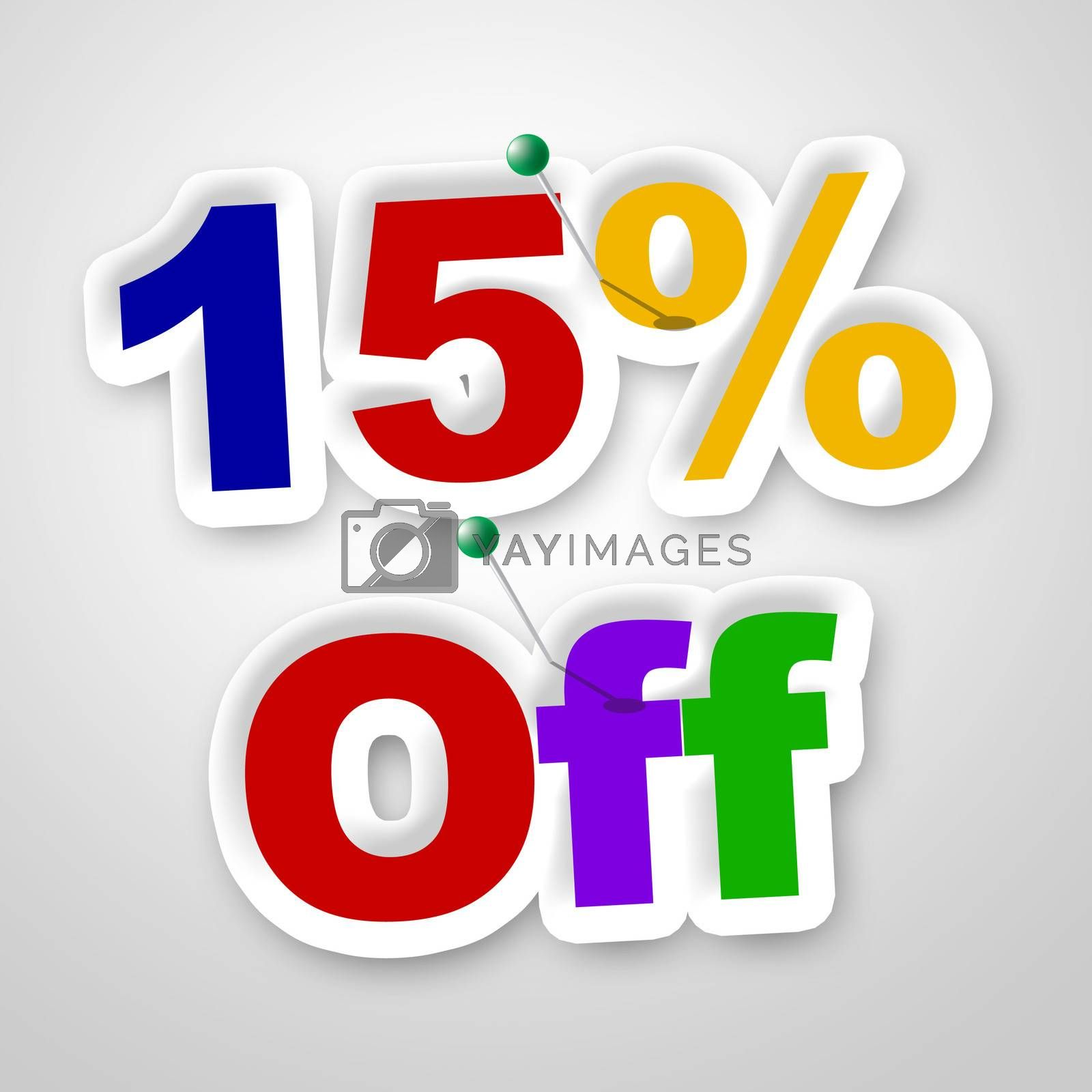 Fifteen Percent Off Represents Offer Promotional And Promo by stuartmiles